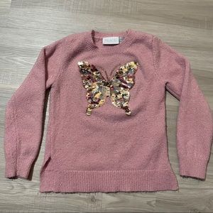 Children's Place Sequin Butterfly Sweater